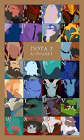 Dota 2 Alphabet (Updated) by nullf