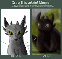Draw This Again - Toothless! by katpause