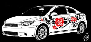 Scion in Black White and red by Eseopia