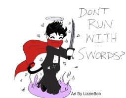 Running with swords? by LizzieBob555