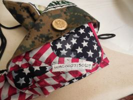 Army purse lining and ID # by WhiteAntCrawls
