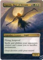 MTG Altered Card_Sigarda, Host of Herons by GhostArm1911