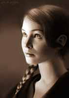 Katniss Everdeen - Portrait Practice by Aliciane