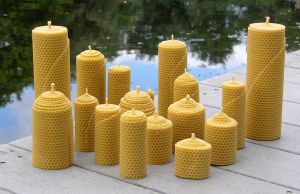 beeswax candles by wish4u2bu