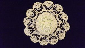 Pentagle Garden Doily by Moon-Crafter