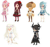 +FREE ADOPTS BATCH 1 +CLOSED+ by AntiqueGlass