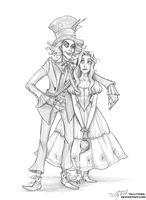 Hatter and Alice by TallyTodd