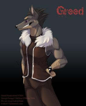 FMA Greed Anthro-ized by frisket17