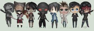 Fallout Chibi: Factions by FigureEight