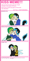 Kiss meme Bullet and Ash by Ask-Snow-Prince