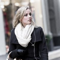 Girl with white scarf by attomanen