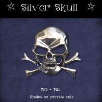 Silver Skull by Dark-Yarrow