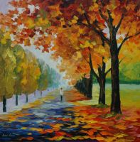 Endlless fall by Leonid Afremov by Leonidafremov