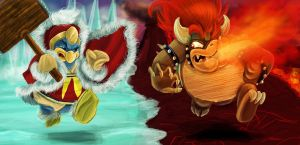 Bowser and Dedede by Evanatt