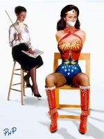 PNP Wonder Woman Linda Carter Bound 14 by ArtT1000