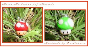 mario mushrooms by neko-crafts