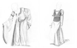 Medieval Dress Study Collage by manaTheory