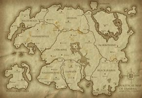 Political Map of Tamriel 3E424 by Jakhajay