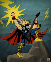 Thor: God of Metal by xnafu