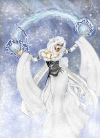 Jathal the winter witch ''color'' by draks