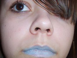blue lips by Unmiracle-stock