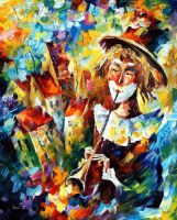 City Clown by Leonid Afremov by Leonidafremov