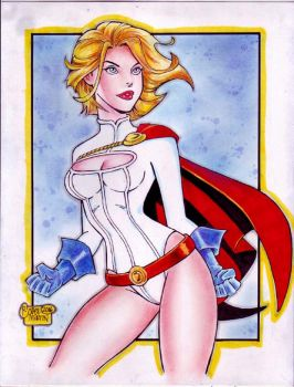 POWER GIRL cartoony by RODEL MARTIN (02232016) by rodelsm21
