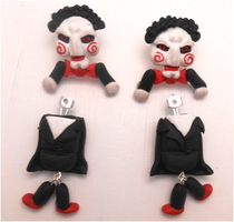 Billy of the saw earrings by MiniSweetx