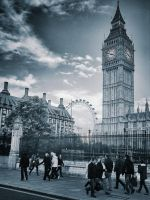 Big Ben - London Eye 2 by japanhead69