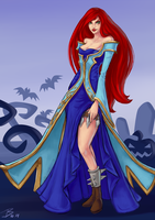 LoL: Katarina in Sona dress by 7guineapig7
