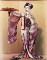 Dancing Geisha by magnesium-cookie