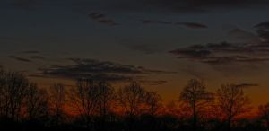 Sunset in the countryside by Hepiefull