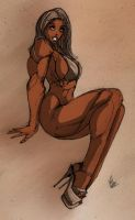 Muscle Pin Up III - Coloured by R3belli0n