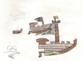 The Pirate Ship by abdiel13