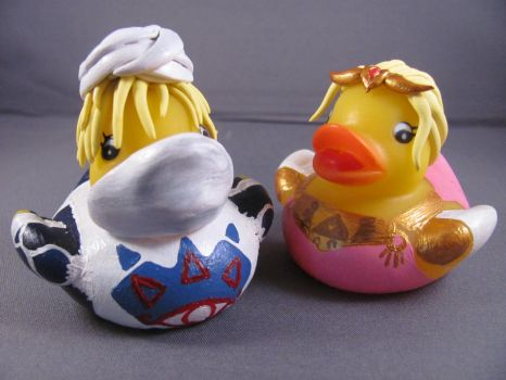 Sheik and Zelda ducks by spongekitty