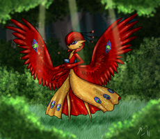 -Old- Shiny Wild Peacock Gardevoir by The-Clockwork-Crow
