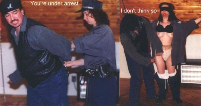 Before and After - you're under arrest by Freakondo