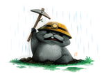 Day 577. Pooh Crossing - Gopher by Cryptid-Creations