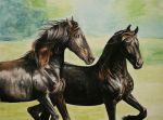 Finished Friesians by BangGoesReality