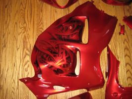 Red Kandy Busa right fairing by Jonny5nLala