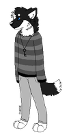 Chase Anthro Sprite by xX-Chase-Xx