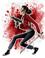 Zoey from Left 4 Dead by ChristelWarren
