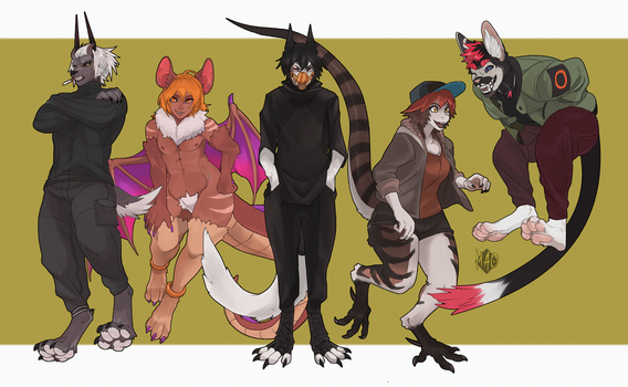 Full Body Commissions by GhosteKey