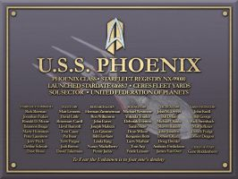 USS Pheonix Plaque by LordTrekie