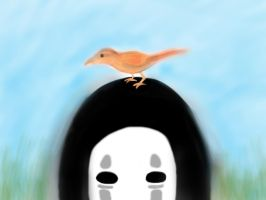 NoFace and a Bird by geek96boolean10