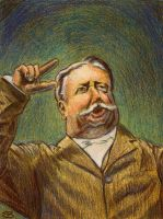 William H Taft Points At The Enemy by mrscriblam