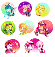 [extra] Super colorful headshots by Cheapcookie