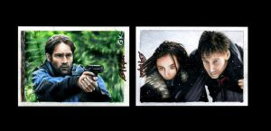 X-Files Sketch Cards by AstroVisionary