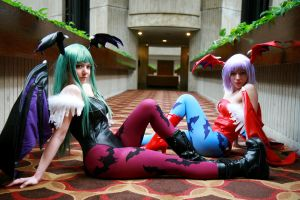 Morrigan and Lilith - 01 by Peachykiki