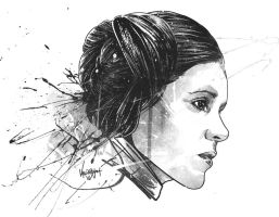 RIP - Carrie Fisher by thefreshdoodle